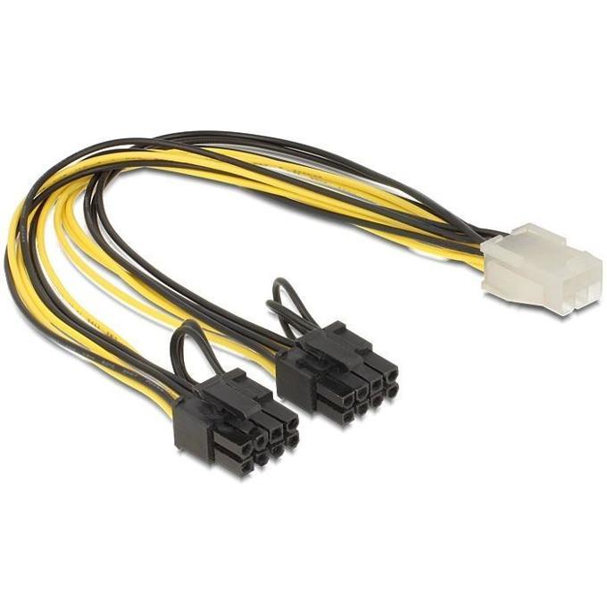 DeLock PCI Express power 6 pin - 2x 8 pin 83433