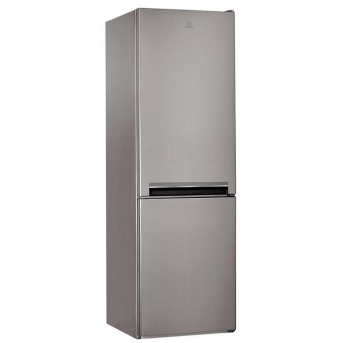 Хладилник с фризер Indesit LI8S1X, клас А+, 339 л. общ обем, свободностоящ, 309 kWh/годишно, aвтоматично размразяване, инокс  image