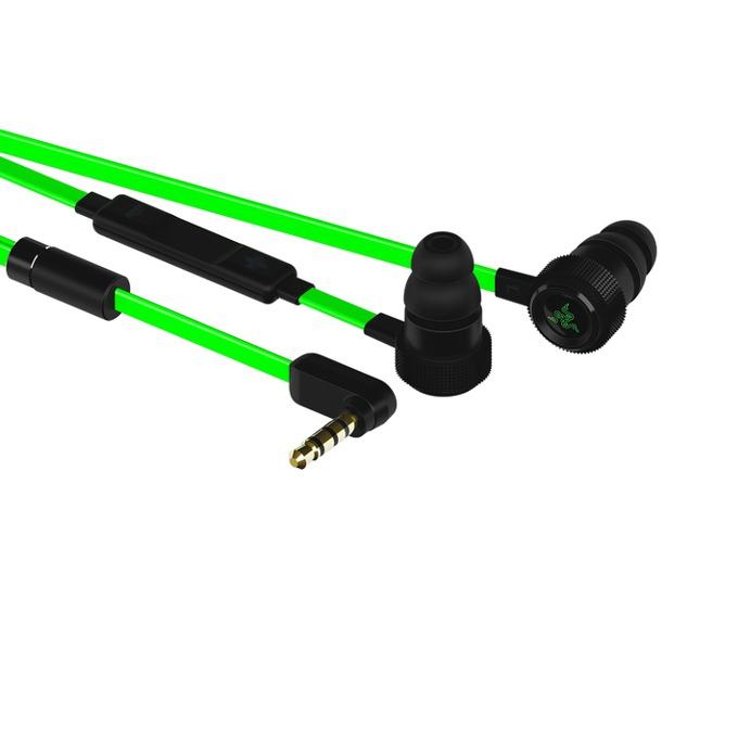 "Слушалки Razer Hammerhead PRO V2, тип ""тапи"", гейминг, микрофон, зелени image"