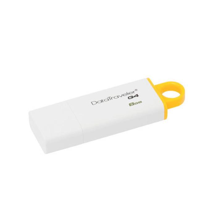 Памет 8GB USB Flash Drive, Kingston DataTraveler G4, USB 3.0, бяла  image