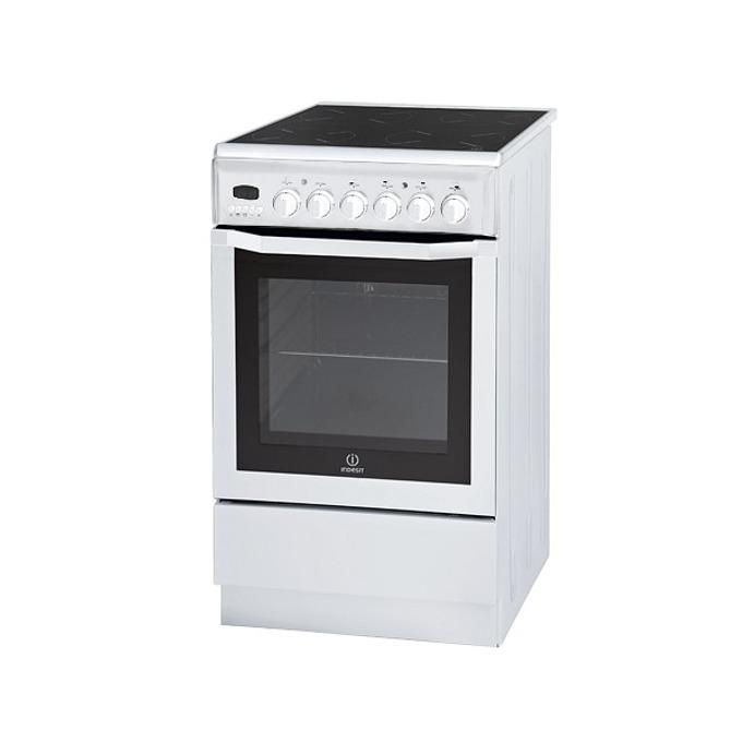 Готварска печка Indesit I5VM6HA(W)/BG, клас А, 56л. обем фурната, 4 нагревателни зони, 7 функции, бяла image