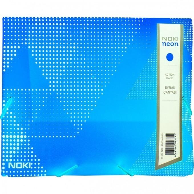 Папка PVC с ластик Noki neon син product