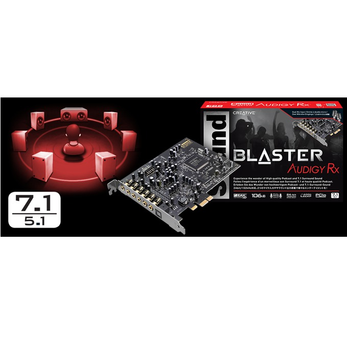 Creative Sound Blaster Audigy RX 7.1, PCI-E, optical out (TOSLINK) image