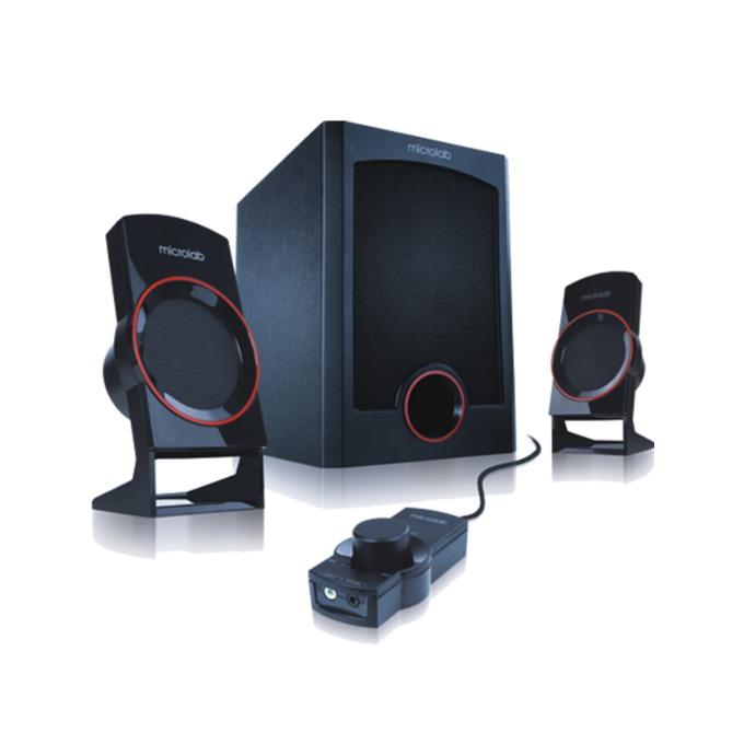 Тонколона Microlab M111, 2.1, 12W, 3,5mm jack stereo, черна, дистанционно управление  image