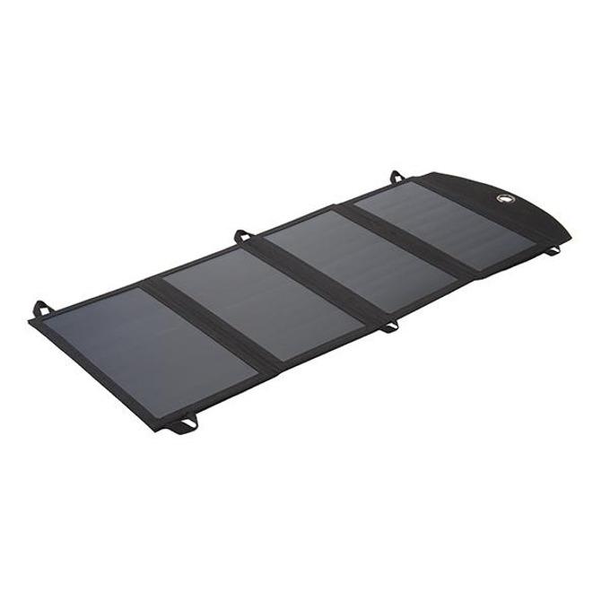 Соларен панел за зареждане A-solar Xtorm SolarBooster 24W Panel AP175, към 2x USB, 5V/2.1A, черно image