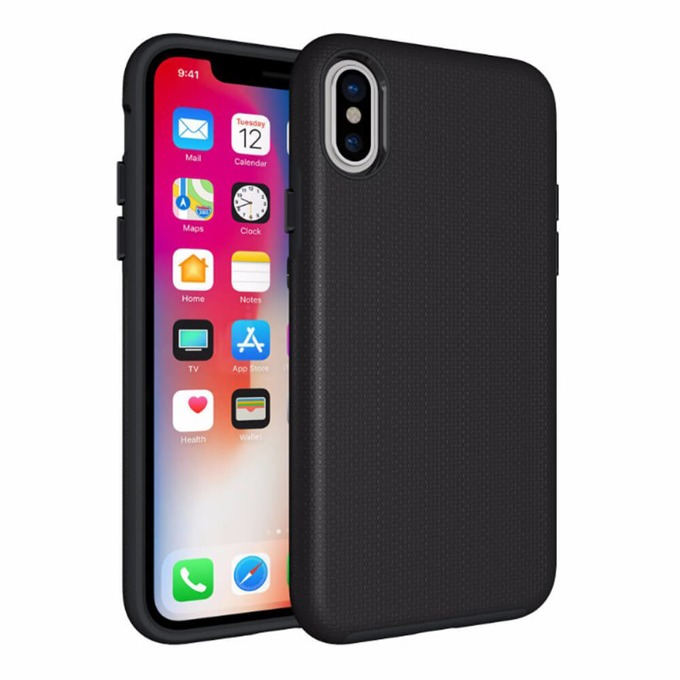 Калъф за iPhone XS/X, термополиуретан, Eiger North Case, черен image