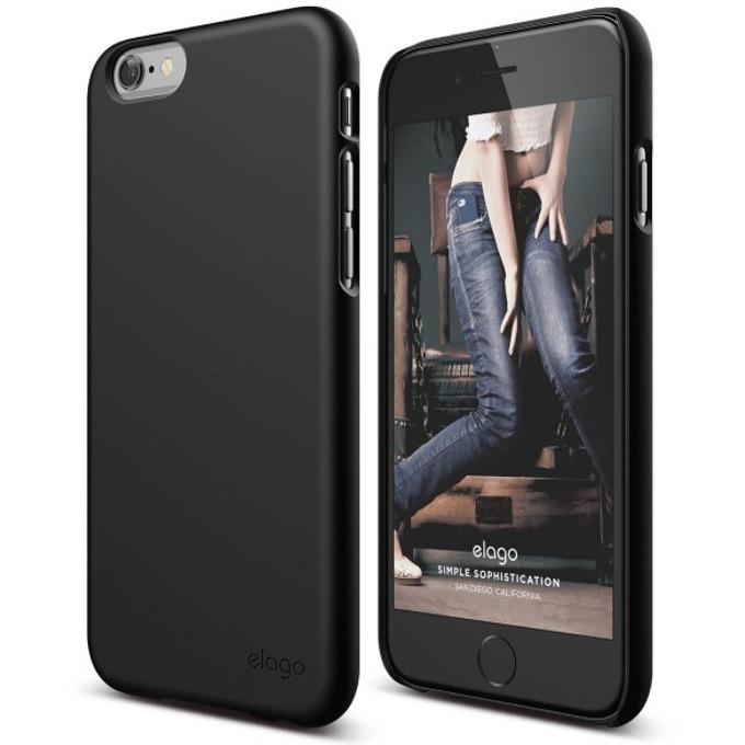 Поликарбонатов протектор Elago S6P Slim Fit 2 Case + HD Clear Film за iPhone 6 Plus, сив, HD покритие image