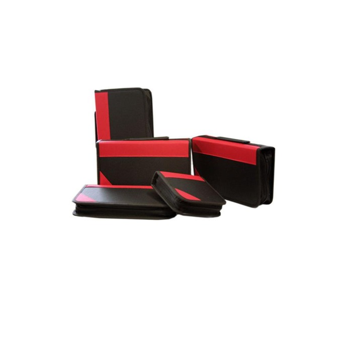 Класьор Omega CDCASE96NYLON, за CD/DVD, черно-червен image