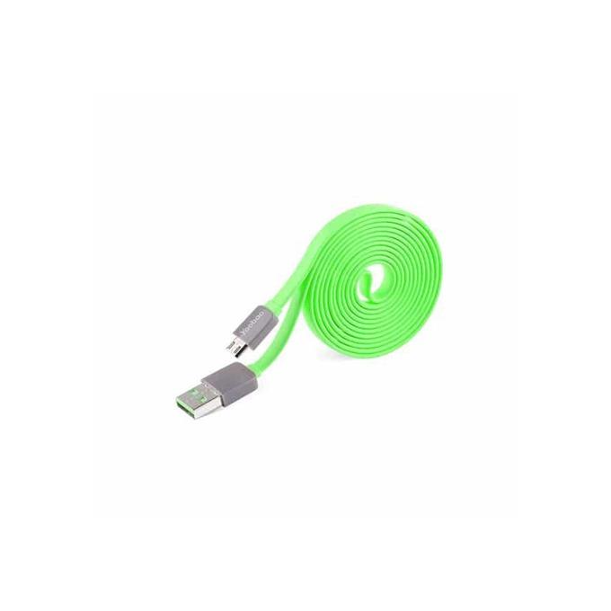 Кабел Yoobao от USB A (м) към USB microB(5-pin)(м), 1.5m, зелен image