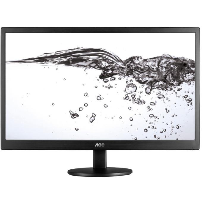 """Монитор AOC e2470Swda, 23.6"""" (59.94 cm) TN панел, Full HD, 5ms, 100 000 000:1, 250cd/m2, DVI, VGA, черен image"""
