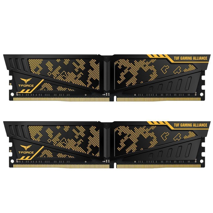 16GB (2x8GB) DDR4 3200MHz, Team Group T-Force Vulcan TUF, TLTYD416G3200HC16CDC01, 1.35V image