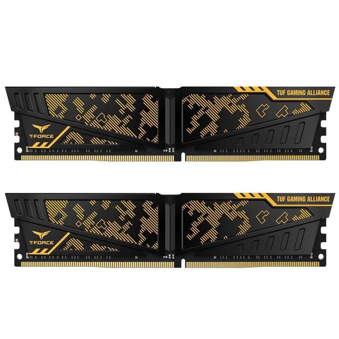 16GB (2x8GB) DDR4 3200MHz, Team Group T-Force Vulcan TUF, TLTYD416G3200HC16CDC01, 1.35V image