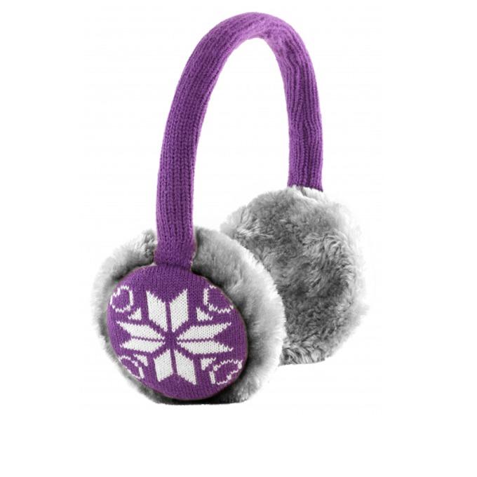 Слушалки KitSound Earmuffs Snowflake, 40mm говорители, 3.5mm jack, 103dB, лилави image