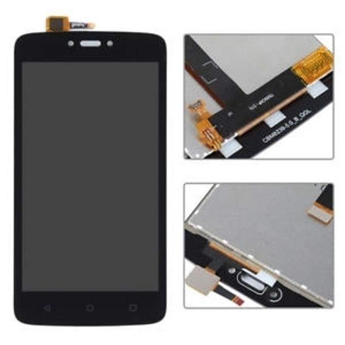 Дисплей за Motorola Moto C 4G, LCD, с тъч, черен image
