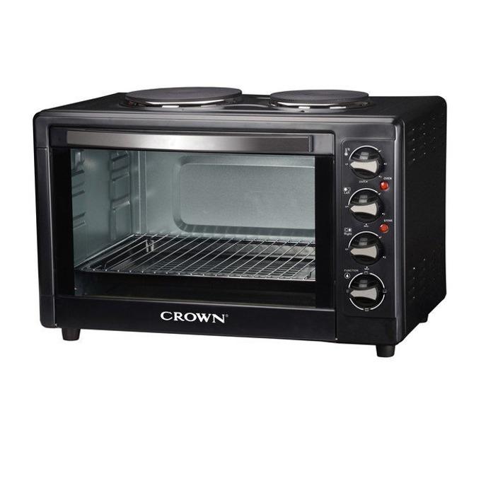 Готварска печка Crown COV-50B, 2 котлона, 50 л. обем на фурната, 2000W, черна image