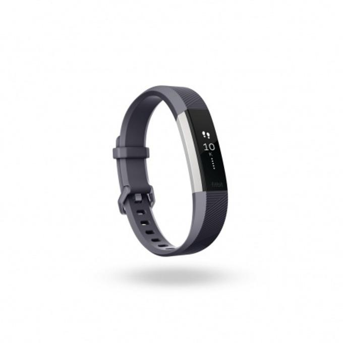 Смарт гривна Fitbit Alta HR Large Size, Bluetooth, до 7 дни издръжливост на батерията, Mac OS X 10.6 (или по-нова), iPhone 4S (или по-нова), iPad 3 gen. (или по-нова), Android and Windows 10 devices, сива image