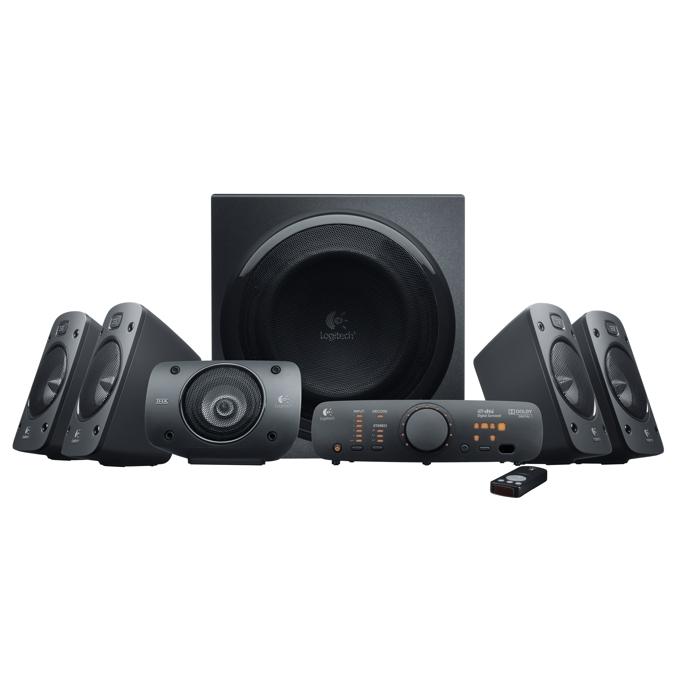 Aудио система Logitech Z906, 5.1, 500W (165W + 5x67W), 2x optical input, дистанционно, черна image