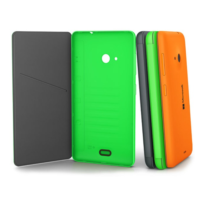 Калъф за Nokia Lumia 535, Flip Cover, оранжев image
