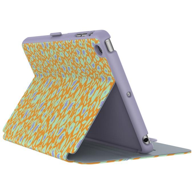 """Калъф тип """"бележник"""" Speck StyleFolio за iPad Mini 4, лилав/оранжев с щампа image"""