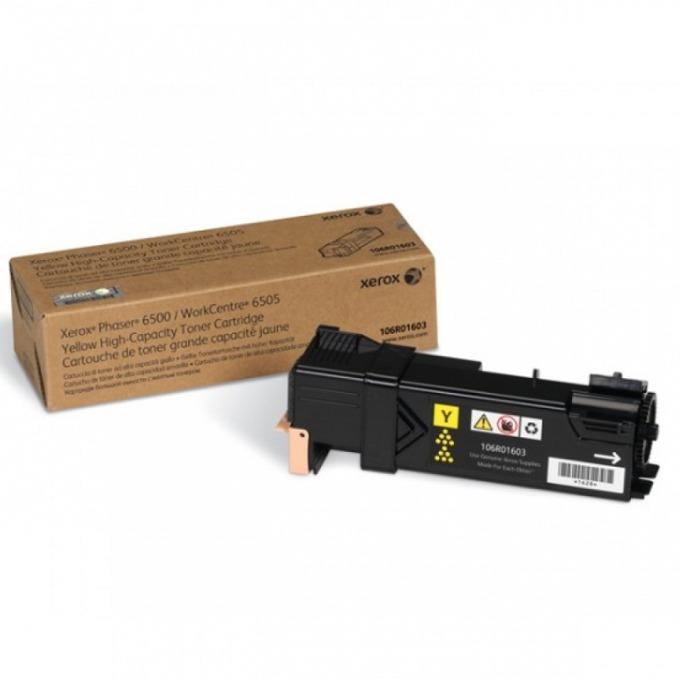 КАСЕТА ЗА XEROX Phaser 6500/WC 6505 - Yellow - P№ 106R01603 - заб.: 2500k image