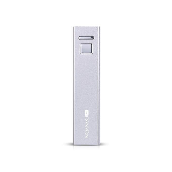 Външна батерия /power bank/ Canyon CNE-CSPB26W, 2600 mAh, бял  image