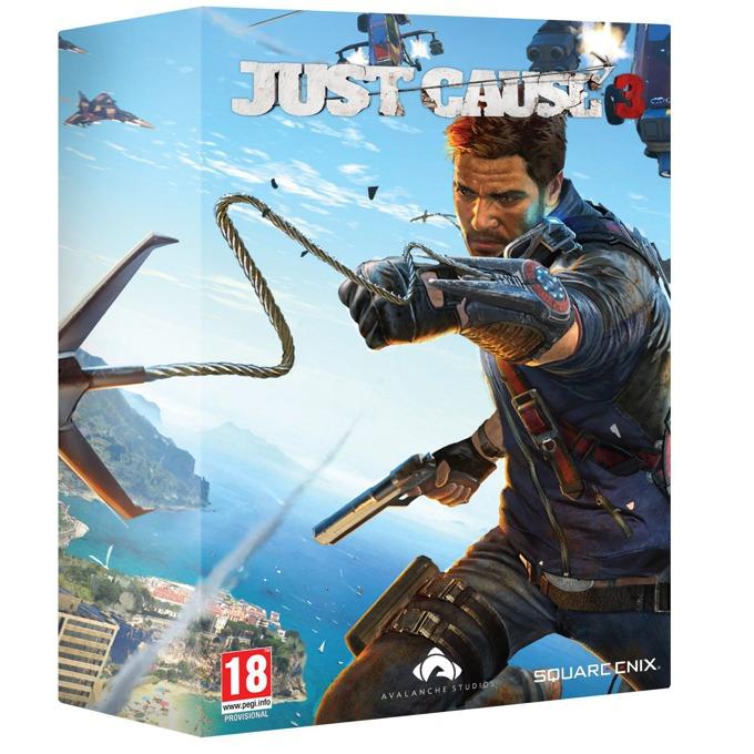 Игра Just Cause 3 Collectors Edition, включва реплика на изстрелващата се кука на Rico, Артбук - 32 страници с концептуален арт от играта, Карта на острова Medici, за PC image