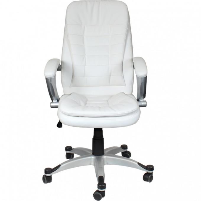 Директорски стол Cosmos, еко кожа, люлеещ механизъм, газов амортисьор, бял image