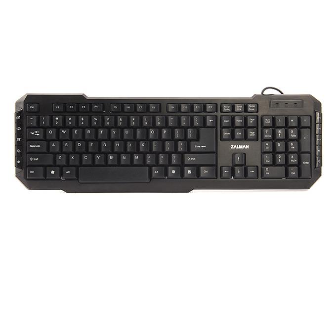 Клавиатура Zalman ZM-K200M, мултимедийна, USB, черна image