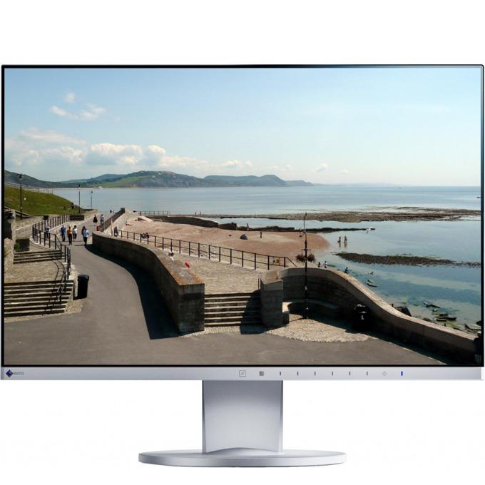 """Монитор EIZO EV2450-WT, 23.8""""(60.45cm), IPS панел, LED, 16:9, 5 ms, 1000:1, 250 cd/m2, бял image"""