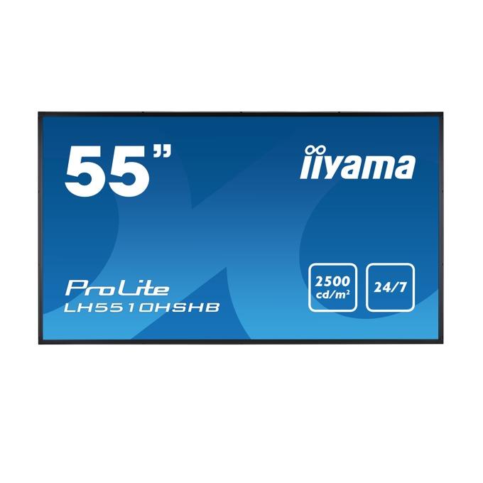 "Дисплей Iiyama LH5510HSHB-B1, 55"" (139.7 cm), Full HD, HDMI, VGA, DVI-D, DisplayPort, USB image"
