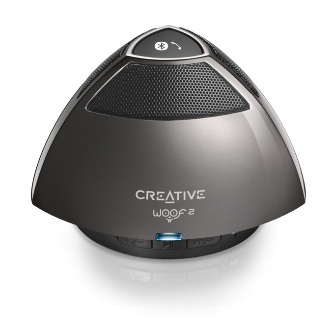 Тонколона Creative WOOF2, 1.0, RMS 1W, Bluetooth/USB, сива, вграден микрофон image