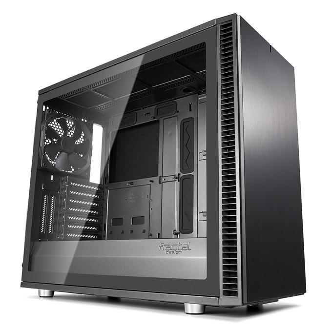 Кутия Fractal Design Define S2 Gunmetal – TG, mATX, ATX, ITX, EATX, USB 3.1 Gen 2 Type-C, черна, без захранване image