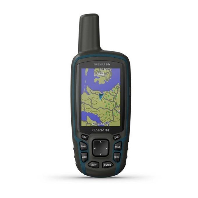 """Ръчна навигация Garmin GPSMAP 64x, 2.6""""(6.60cm), TFT сензорен цветен дисплей, 8GB вградена памет, microSD слот, водоустойчив, до 16 часа време за работа, основна карта image"""