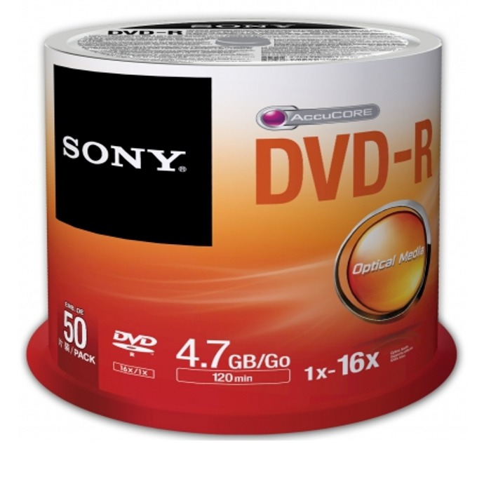 Sony 50 DVD-R spindle 16x