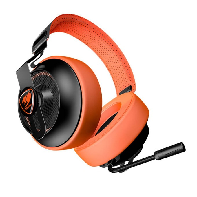 Слушалки Cougar Phontum Essential, гейминг, микрофон, 1.9m кабел, оранжеви image
