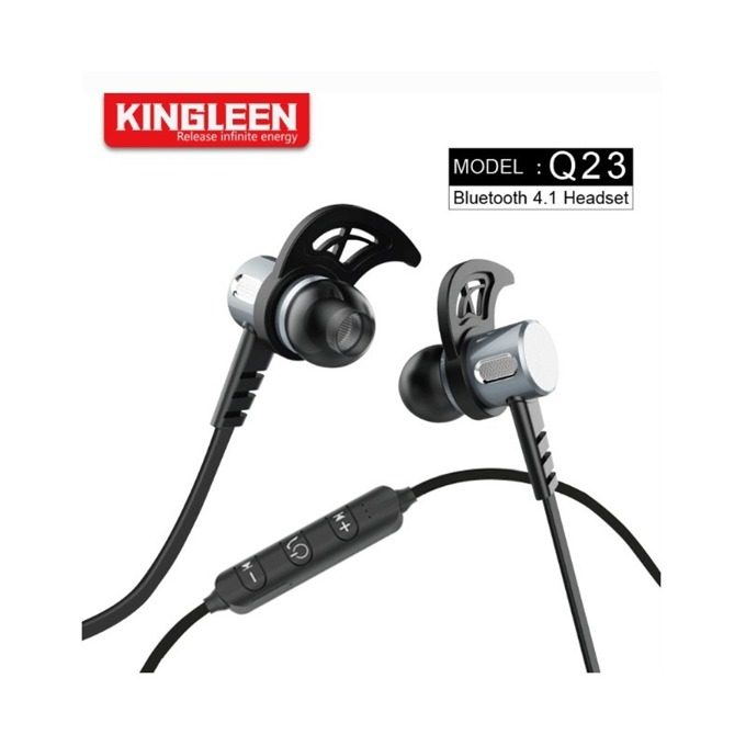 Слушалки Kingleen Q23, безжични, микрофон, Bluetooth, черни image