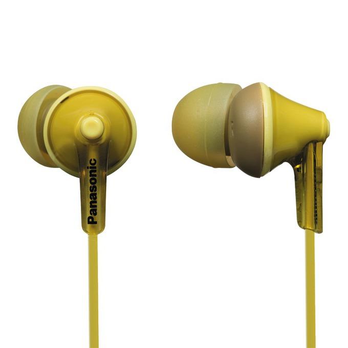 "Слушалки Panasonic RP-HJE125E, тип ""тапи"", жълти image"