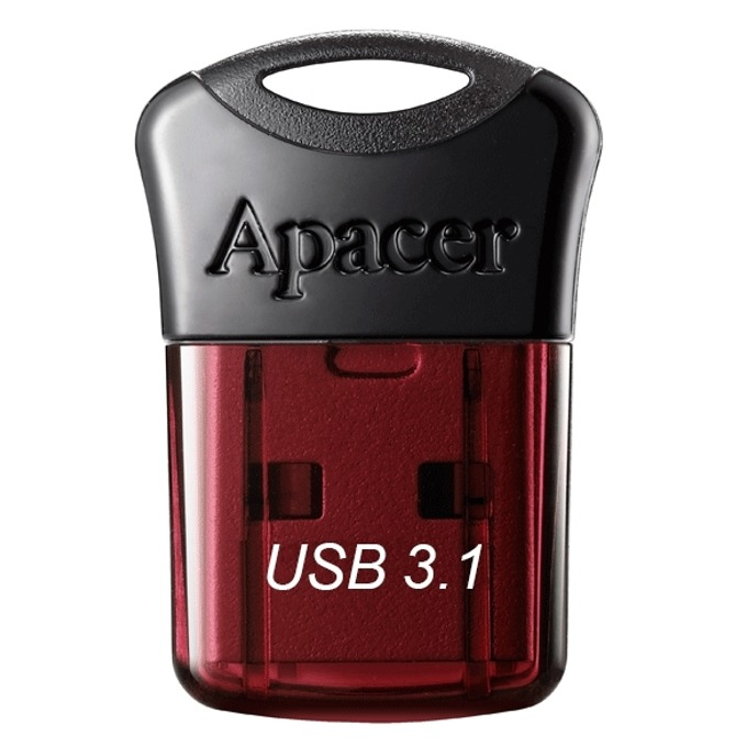 32GB USB Flash Drive, Apacer Super-mini AH157, USB 3.1, червена image