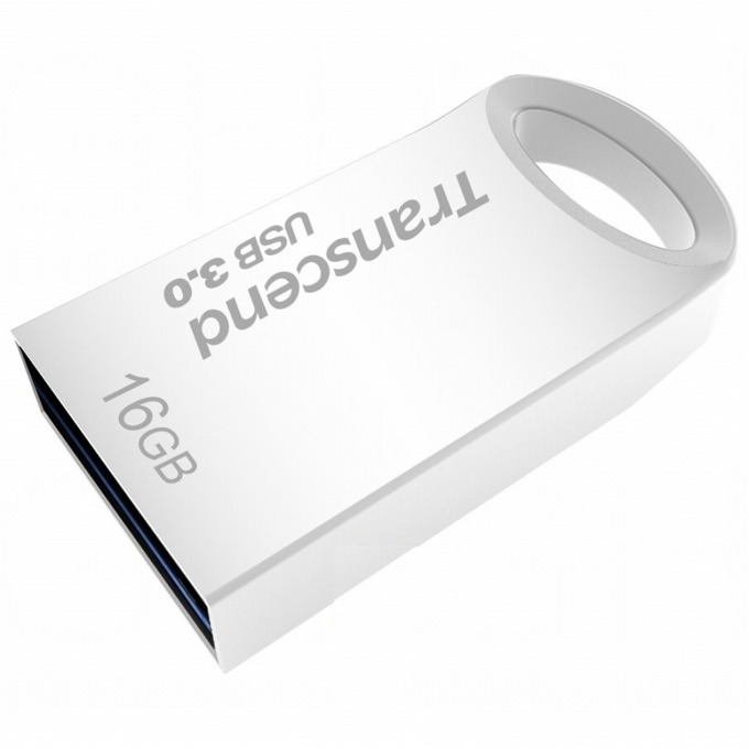 Памет 16GB USB Flash Drive, Transcend JetFlash 710, USB 3.0, сребриста image