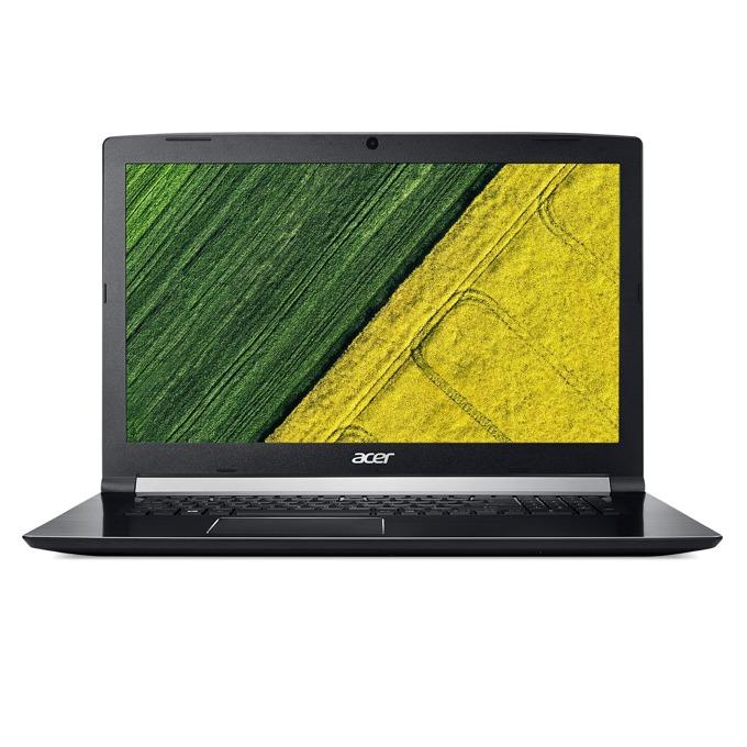 "Лаптоп Acer Aspire 7 A717-72G-70VU (NH.GXEEX.025), шестядрен Coffee Lake Intel Core i7-8750H 2.2/4.1GHz, 17.3"" (43.94 cm) Full HD Anti-Glare LED ComfyView Display & NVIDIA GeForce GTX 1060 6GB, (HDMI), 8GB DDR4, 1TB HDD, 1x USB C, Linux, 3.0 kg image"