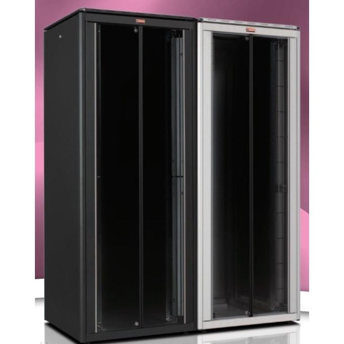 """Комуникационен шкаф Lande LN-FS32U8080-CC-111, 19"""", 32U, 800 x 800 мм, стъклена врата, черен image"""