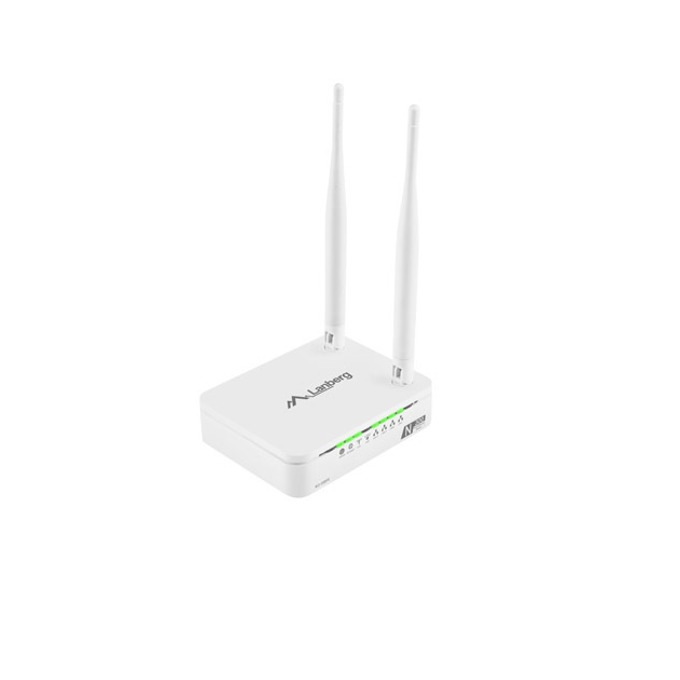 Рутер Lanberg RO-030FE (бял), 300 Mbps, Wireless N, 4x LAN 100, 1x WAN 100, 2x външни антени, 2x 2T2R MIMO антени, TR-069 image