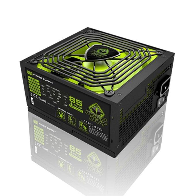 Захранване KEEPOUT FX750, 750W, Active PFC, 85 plus, 140мм вентилатор image