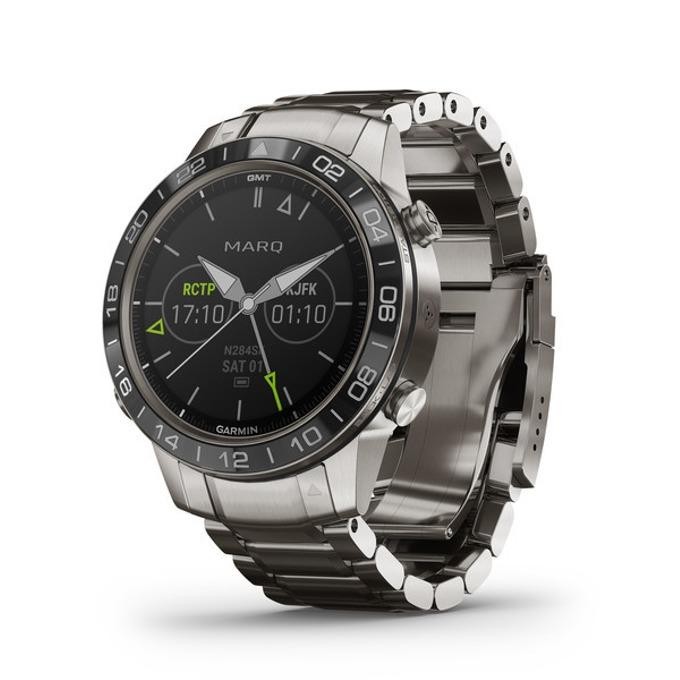 Смарт часовник Garmin MARQ™ Aviator, титаниев корпус, до 12 дни работа, Bluetooth, Wi-Fi, сребрист image