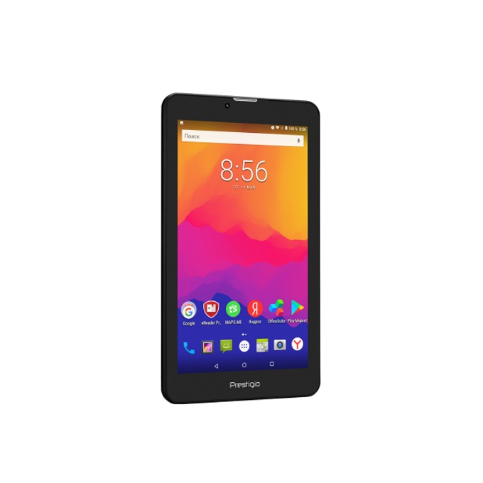 "Таблет Prestigio Wize 3437 4G (PMT3437_4G_C_BG)(черен), поддържа 2 sim карти, 4G LTE, WSVGA 7"" (17.78 cm) IPS LCD, 1GB RAM, 8GB Flash памет (+ microSD слот), 2.0 & 0.3 Mpix камера, Android 7.0  image"