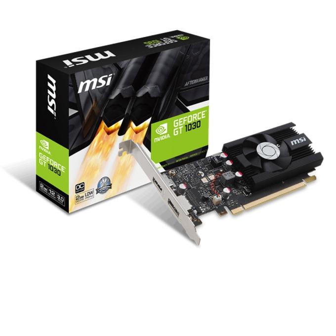 Видео карта NVIDIA GeForce GT 1030, 2GB, GeForce GT 1030 2G LP OC, PCI-E 3.0, GDDR5, 64 bit, Display Port, HDMI image