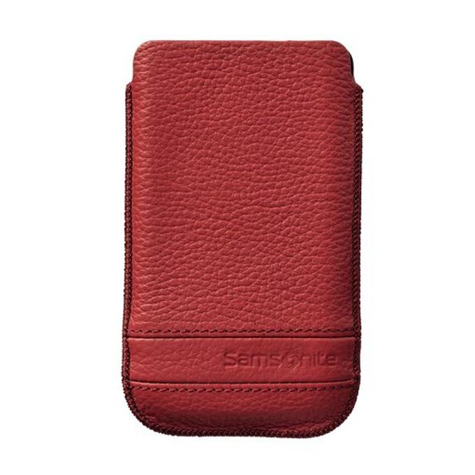 """Калъф тип """"джоб"""" Samsonite SLIM CLASSIC L, кожен, червен image"""