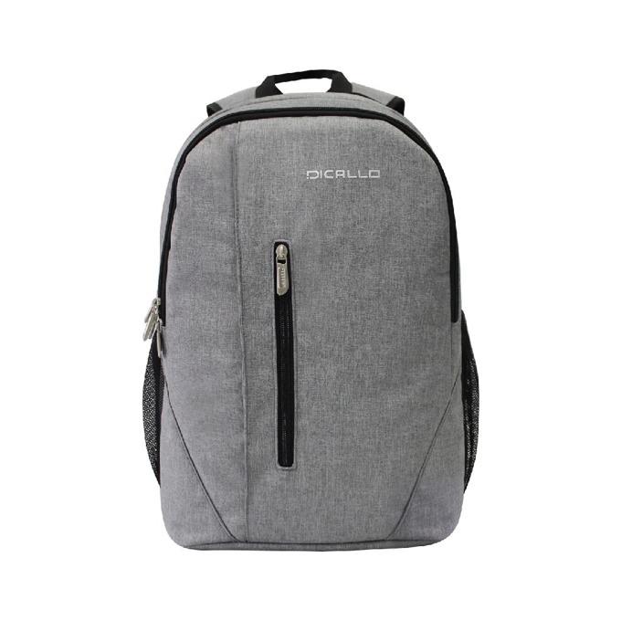 "Раница за лаптоп Dicallo LLB961017SL, до 17.3"" (43.94 cm), сива-черна image"