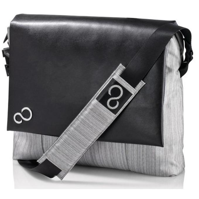 """Чанта за лаптоп Fujitsu Messenger Bag 14, до 14"""" (35.56 cm), черна/сива image"""