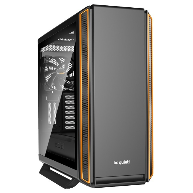Кутия Be Quiet Silent Base 801 Window Orange, E-ATX/ATX/M-ATX/Mini-ITX, 2x USB 3.0, прозорец от закалено стъкло, черна, без захранване image